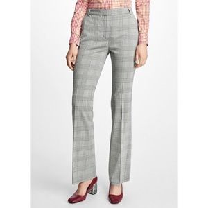 Brooks Brothers 346 100% Wool Grey Plaid Trousers